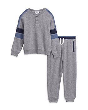 Splendid - Boys' French Terry Long Sleeve Henley & Sweatpants Set - Little Kid
