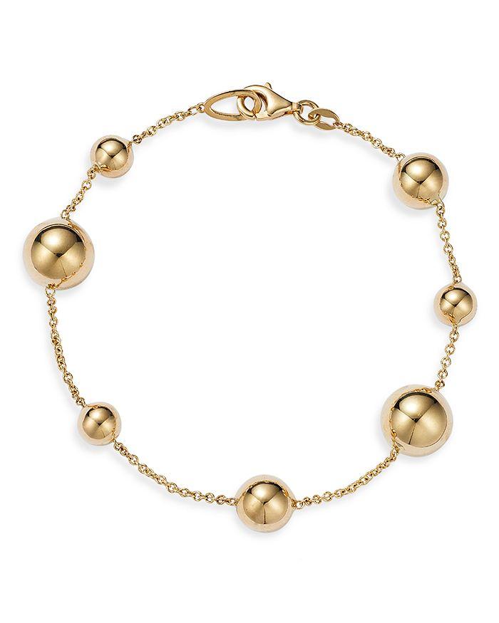 Alberto Amati 14k Yellow Gold Multi Bead Chain Bracelet - 100% Exclusive