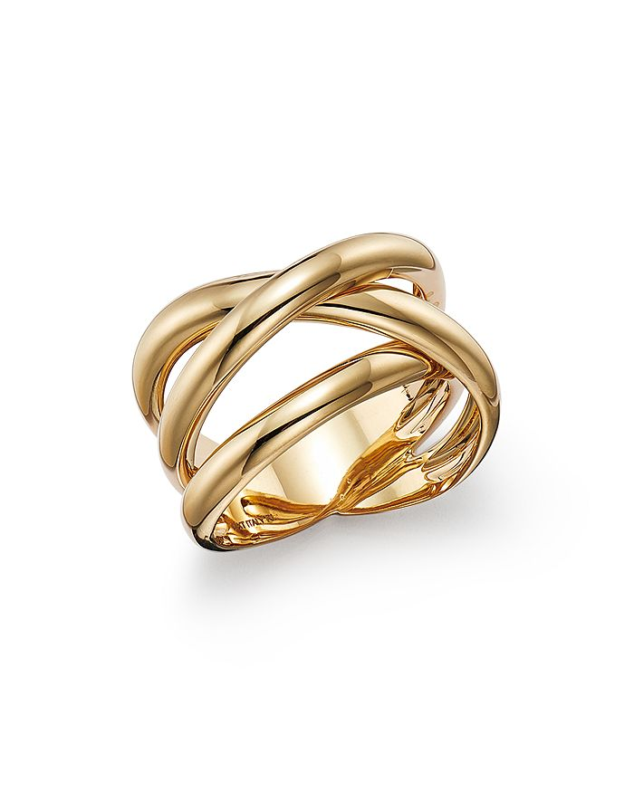 Alberto Amati 14k Yellow Gold Double Crossover Ring - 100% Exclusive