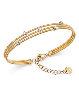 Marco Bicego - 18K Yellow and White Gold Three Strand Diamond Bracelet - 100% Exclusive