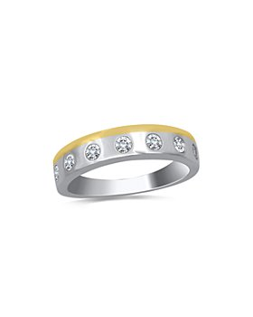 Bloomingdale's - Men's Diamond 14K White and Yellow Gold Band, 0.50 ct. t.w. - 100% Exclusive