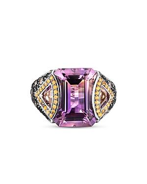 John Hardy Sterling Silver Classic Multi Gemstone & Diamond Cahaya Statement Ring-Jewelry & Accessories