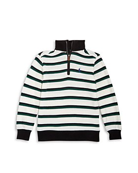 Ralph Lauren - Boys' Striped Quarter Zip Pullover - Little Kid