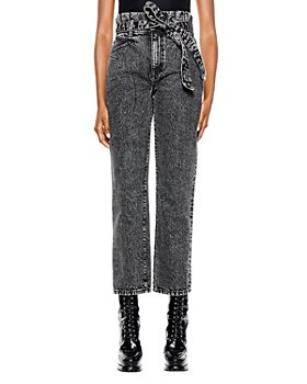 Alice and Olivia - Amazing Paperbag Girlfriend Jeans in Acid Black