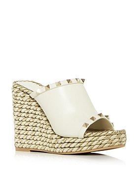 Valentino Garavani - Women's Platform Wedge Espadrille Slide Sandals