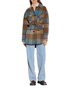 Sandro - Vana Checked Wool Blend Jacket
