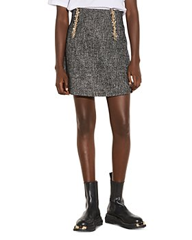 Sandro - Talie Chain Trim Tweed Mini Skirt