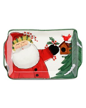 VIETRI - Old St. Nick 2020 Limited Edition Small Rectangular Plate