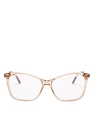 Tom Ford Women's Square Blue Light Glasses, 56mm