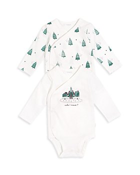FIRSTS by petit lem - Boys' Holiday Tree Bodysuit, 2 Pack - Baby