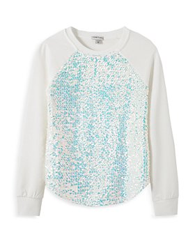 Habitual Kids - Girls' Arielle Sequin Raglan Pullover - Big Kid