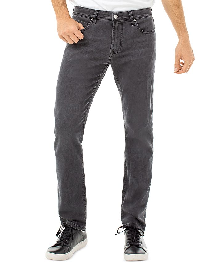 Liverpool Los Angeles - Kingston Stretch Straight Slim Fit Jeans in Ghost Gray