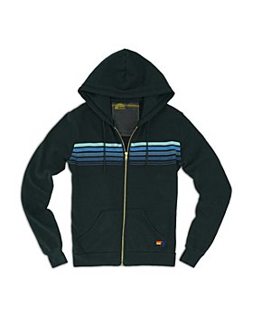 Aviator Nation - Striped Zipper Hoodie