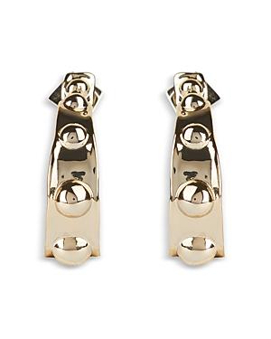 Alexis Bittar Studded Open Hoop Earrings