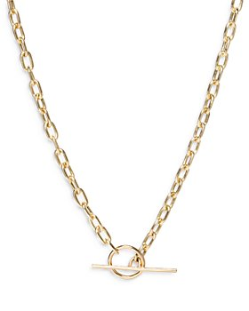 Zoë Chicco - 14k Yellow Gold Square Link Chain Toggle Necklace, 16""