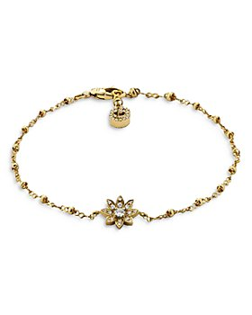 Gucci - 18K Yellow Gold Flora Diamond Chain Bracelet