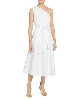 St. John - Glazed Stretch Poplin One Shoulder Dress