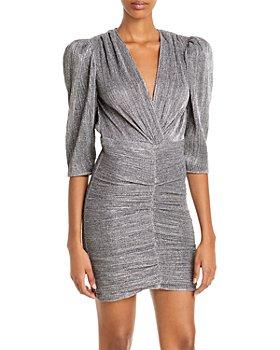 IRO - Cluzco Ruched Metallic Dress