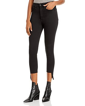 rag & bone - Nina High Rise Ankle Jeans in Hampton Black