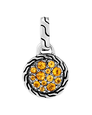 John Hardy Women\\\'s Sterling Silver Classic Chain Citrine Round Pendant-Jewelry & Accessories
