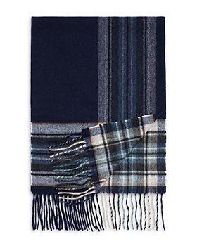 The Men's Store at Bloomingdale's - Border Plaid Cashmere Scarf - 100% Exclusive
