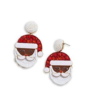 BAUBLEBAR - Santa Claus Drop Earrings in Gold Tone