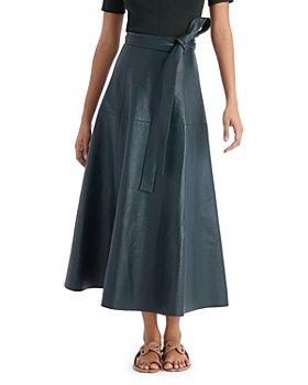 Oscar de la Renta - Belted A Line Midi Skirt