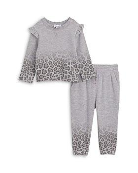 Splendid - Girls' Ombre Leopard Sweatshirt & Jogger Pants Set - Baby