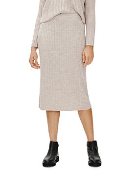 Eileen Fisher - Ribbed Wool Pull On Skirt