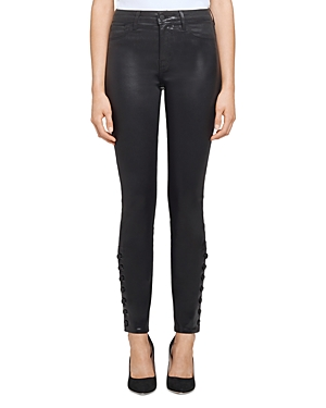 L Agence L'AGENCE PIPER HIGH RISE SKINNY JEANS IN NOIR COATED