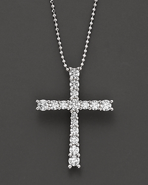 Click here for Diamond Cross Pendant in 14 Kt. White Gold  1.0 ct... prices