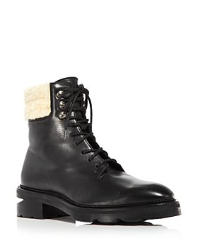 Alexander Wang - Women's Andy Faux Fur Trim Waterproof Leather Hiker Boots