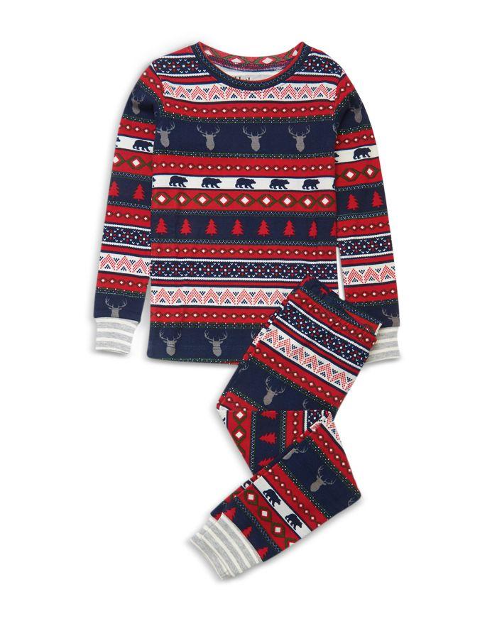 Hatley Girls' Fair Isle Stags Pajama Set - Little Kid, Big Kid  | Bloomingdale's