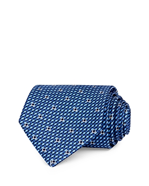 Salvatore Ferragamo Woven Gancini Silk Classic Necktie-Men