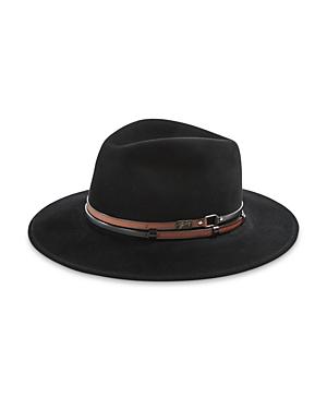 Stedman Leather Trimmed Fedora Hat