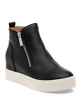 J/Slides - Women's Sky Almond Toe Leather Sneaker Booties