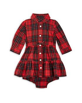Ralph Lauren - Girls' Plaid Twill Shirt Dress & Bloomers - Baby