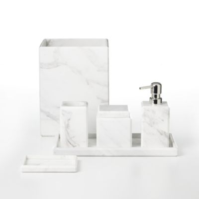 """White Marble"" Jar by Waterworks"