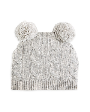 Bloomie's Unisex Cable Knit Cashmere Pom Pom Hat - Baby