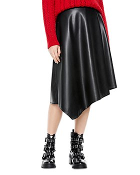 Alice and Olivia - Jayla Asymmetrical Faux Leather Skirt