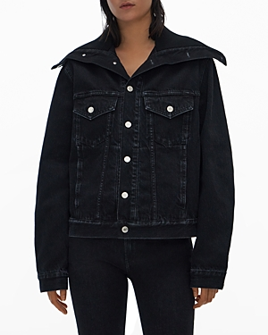 Helmut Lang Denims KNIT COLLAR DENIM TRUCKER JACKET