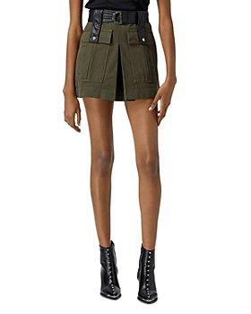 The Kooples - Short Khaki Belted Skirt