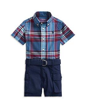 Ralph Lauren - Boys' Madras Shirt, Cargo Shorts & Belt Set - Baby
