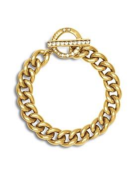 Kendra Scott - Whitley Cubic Zirconia Chain Link Bracelet in Vintage Gold Tone