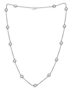 "Bloomingdale's - Diamond Bezel Statement Necklace in 14K White Gold, 4.0 ct. t.w., 18"" - 100% Exclusive"