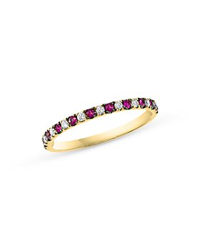 Bloomingdale's - Ruby & Diamond Stacking Ring in 14K Yellow Gold - 100% Exclusive