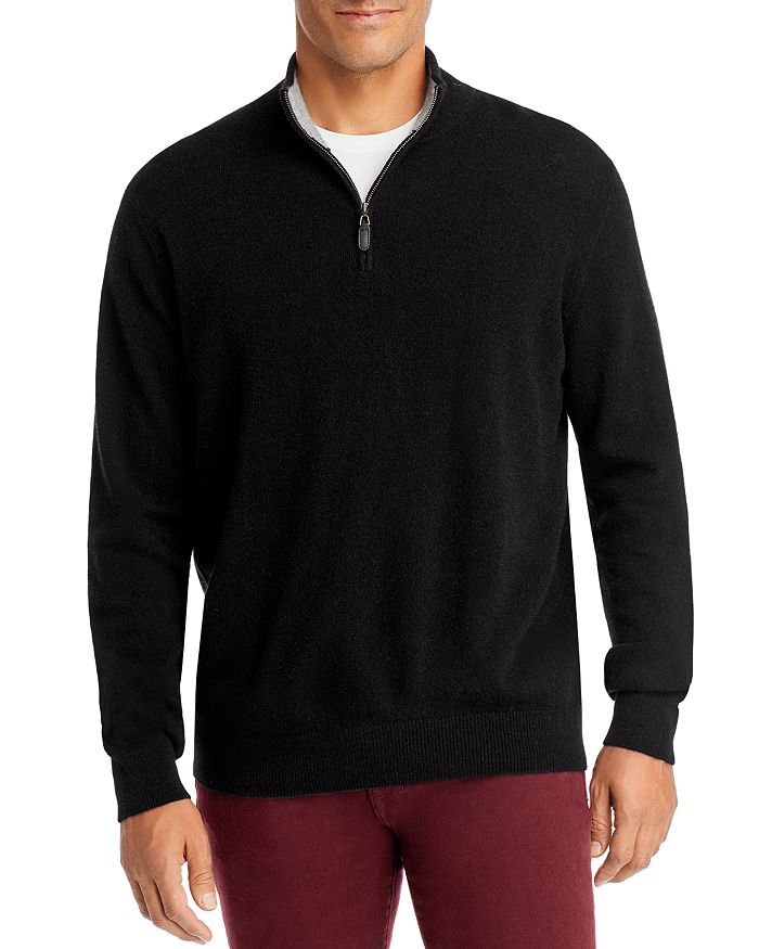 The Men's Store at Bloomingdale's - Cashmere Quarter Zip Sweater, 100% Exclusive (60.5% off) - Comparable value $228