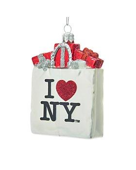Kurt Adler - I Love NY® Shopping Bag Glass Ornament