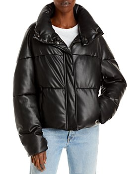Apparis - Jemma Faux Leather Puffer Coat