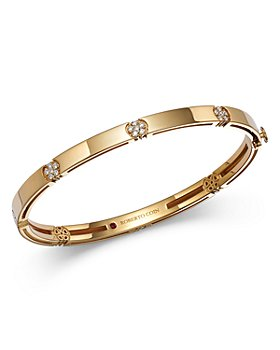 Roberto Coin - 18K Yellow Gold Diamond Daisy Bangle Bracelet - 100% Exclusive